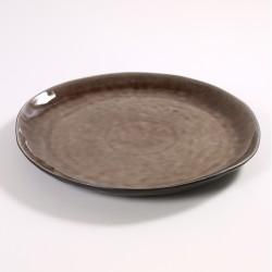 Assiette ronde 34 cm céramique Pure Brun, Serax par Pascale Naessens