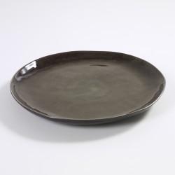 Assiette ronde 34 cm céramique Pure Gris, Serax par Pascale Naessens
