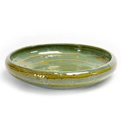 Plat rond 31cm céramique Pure new Vert de mer, Serax par Pascale Naessens