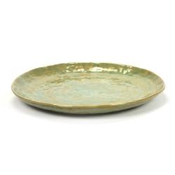 Assiette plate 28cm céramique Pure new Vert de mer, Serax par Pascale Naessens
