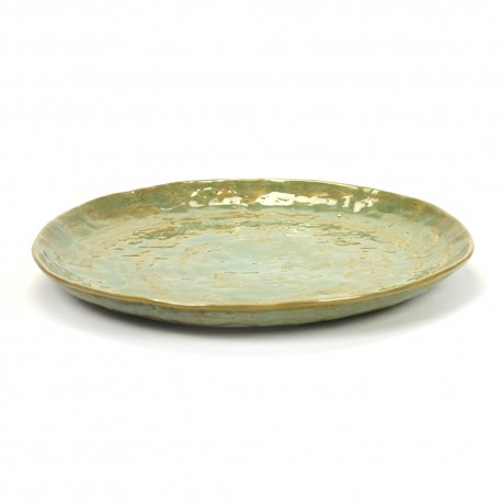 Assiette plate céramique 28cm Pure Vert de mer, Pascale Naessens Serax