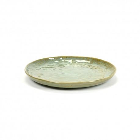 Assiette dessert céramique20.5cm Pure Vert de mer, Pascale Naessens Serax