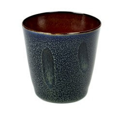 Gobelet conique 18cl Terres de Rêves Dark blue/Rust, Serax par Anita Le Grelle