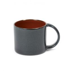Mug à expresso 8.5cl Rust/Dark blue Serax Terres de Rêves par Anita Le Grelle