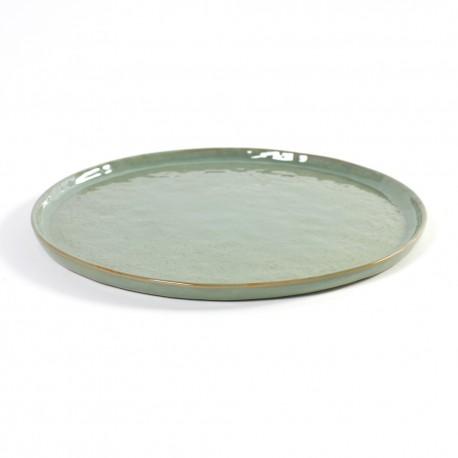 Assiette plate 27cm céramique Pure green Vert, Serax par Pascale Naessens