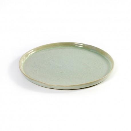 Assiette dessert 21.5cm céramique Pure green Vert, Serax par Pascale Naessens