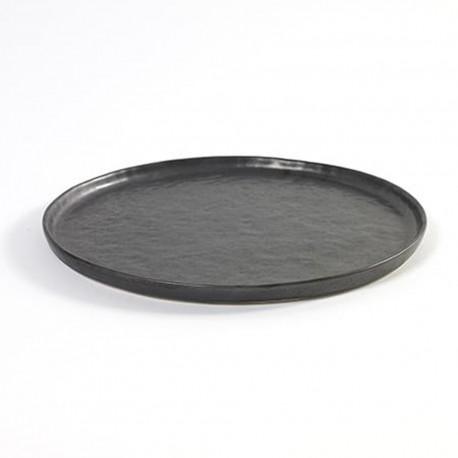 Assiette plate 27cm céramique Pure green Noir, Serax par Pascale Naessens