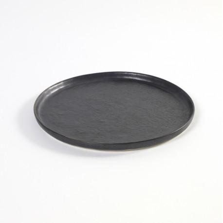 Assiette dessert 21.5cm céramique Pure green Noir, Serax par Pascale Naessens