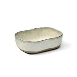 Assiette creuse rectangulaire grès émaillé N°6 M Mastic Merci, Serax