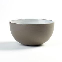 Bols 14cm en porcelaine blanc/gris anthracite, Dusk de Martine Keirsebilck pour Serax