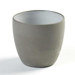 gobelet à expresso 17cl en porcelaine blanc/gris anthracite, Dusk de Martine Keirsebilck pour Serax