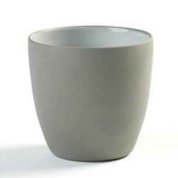 gobelet à café 31cl en porcelaine blanc/gris anthracite, Dusk de Martine Keirsebilck pour Serax