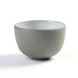 Bols à thé 9.5cm en porcelaine blanc/gris anthracite, Dusk de Martine Keirsebilck pour Serax