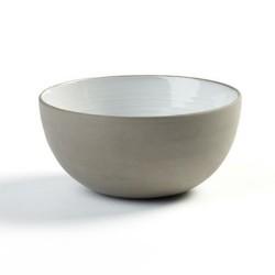 Coupelle ou petit bol 11.5cm en porcelaine blanc/gris anthracite, Dusk de Martine Keirsebilck pour Serax