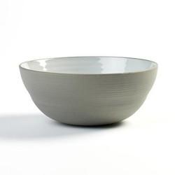 Saladier individuel 15cm en porcelaine blanc/gris anthracite, Dusk de Martine Keirsebilck pour Serax