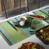 Set de table enduit Wax Mania Pistache Le Jacquard Français