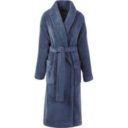 Peignoir de bain mixte Caresse Bleu orient 100% micro coton, Le Jacquard Français