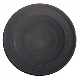 Service assiette plate ceramique Sud cendre, Bernex