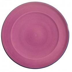 Service assiette plate céramique Sud framboise, Bernex