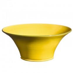 Saladier céramique évasé Sud jaune, Bernex