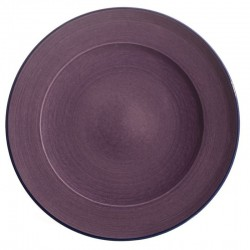 Assiette plate ceramique Sud violette, Bernex