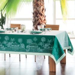 Nappe de table anti tache Serres Royales Vert empire, Garnier-Thiébaut