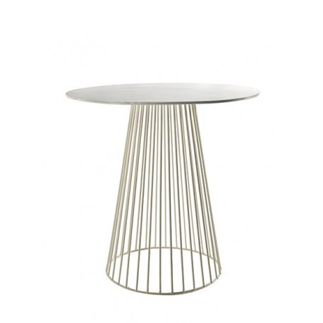 Table d appoint ronde design Bistrot Garbo D 40 X H 40 cm Blanc, Serax