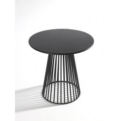 Table basse ronde design Bistrot Garbo D 40 X H 40 cm Noir, Serax