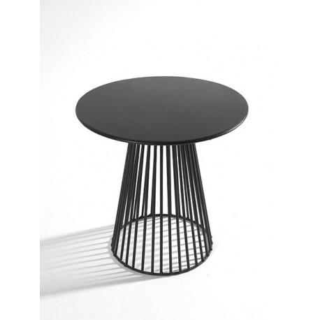 Table d appoint design Bistrot Garbo D 50 X H 50 cm Noir, Serax