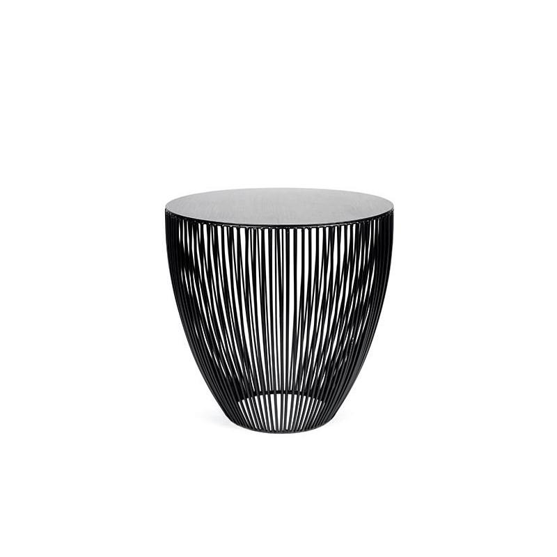 Table D Appoint Design Basse Ronde Moderne Table Deco Noire