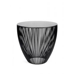 Table d appoint ronde design Bingo D 50 X H 50 cm Noir, Serax