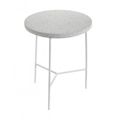 Table d'appoint design Terrazzo Blanc/pied Blanc D 30 X H 35 cm, Serax