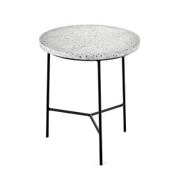 Table d'appoint Terrazzo Gris/ pied Noir D30XH35cm Antonino Sciortino, Serax