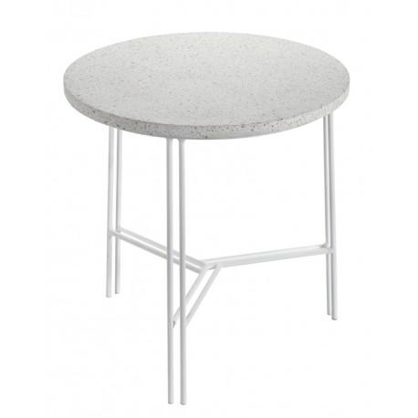 Table d'appoint design Terrazzo Blanc/pied Blanc D 40 X H 40 cm, Serax