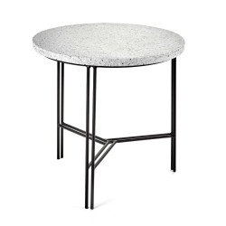 Table d'appoint Terrazzo Gris/pied Noir D40XH40cm Antonino Sciortino, Serax