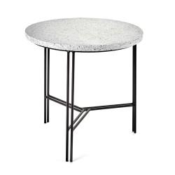 Table d'appoint design Terrazzo Gris/pied Noir D 40 X H 40 cm, Serax