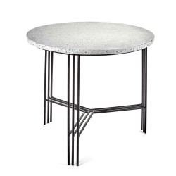 Table d'appoint Terrazzo Gris/pied Noir D50XH45cm Antonino Sciortino, Serax