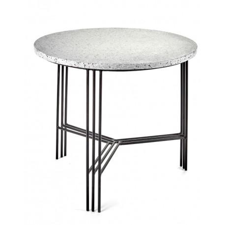 Table d'appoint design Terrazzo Gris/pied Noir D 50 X H 45 cm, Serax
