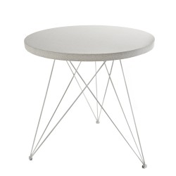 Table Bistrot Terrazzo Blanc D80XH77cm Antonino Sciortino, Serax