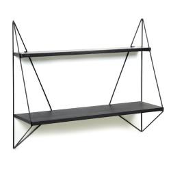 Etagère modulable Butterfly Noir métal et bois L75xP22xH64cm PJ Mares, Serax