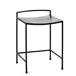 Tabouret design Nello métal Noir H50cm Antonino Sciortino, Serax
