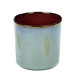 Gobelet haut 23cl Terres de Rêves Smokey blue/Rust, Serax par Anita Le Grelle