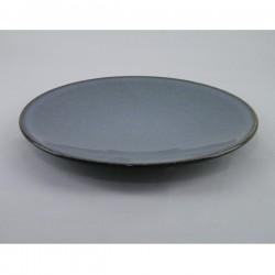 Assiettes plates Tourron écorce Jars Céramistes (X 4)