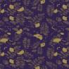 Tissu enduit Mille Feuilles Bleu doré en 180cm de large