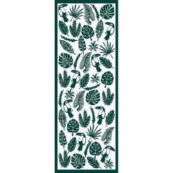 Chemin de table réversible Toucan Vert, Garnier-Thiébaut