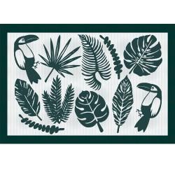 Set de table réversible Toucan Vert, Garnier-Thiébaut
