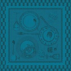 Serviettes de table Entre amis Bleu canard, Garnier-Thiébaut