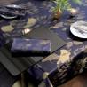 Nappe de table Mille Feuilles Bleu doré, Garnier-Thiébaut