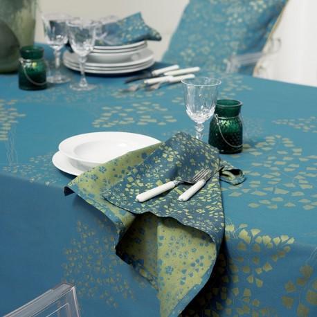 Nappe de table Mille Branches Paon, Garnier-Thiébaut