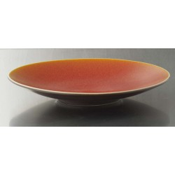 Plat rond Ø 32.5 Tourron orange